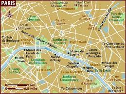 brown map of Paris